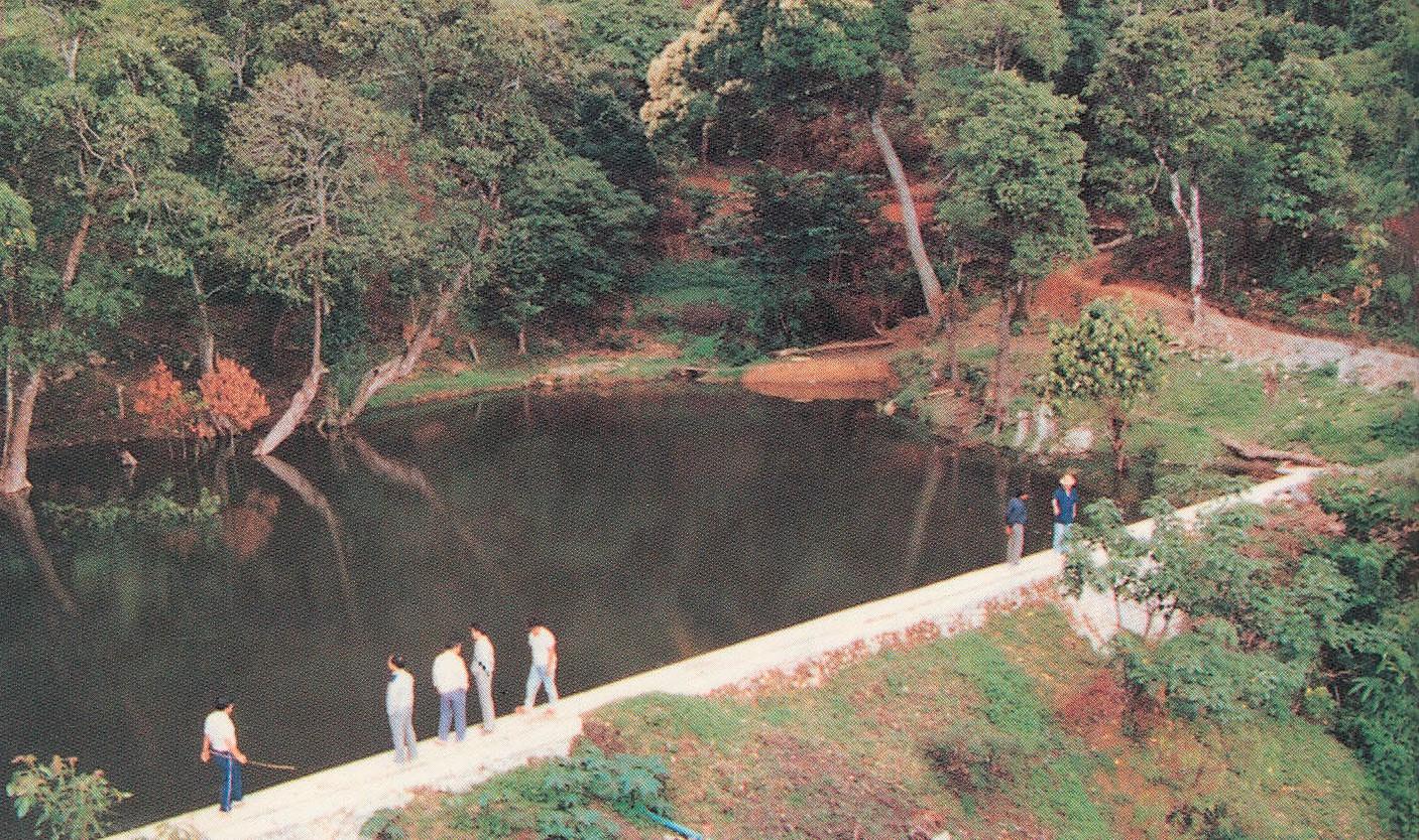 興建帕黨村攔水壩