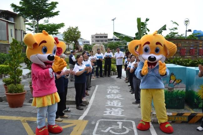 彰化忠權社區吉祥物歡迎活動來賓參訪。