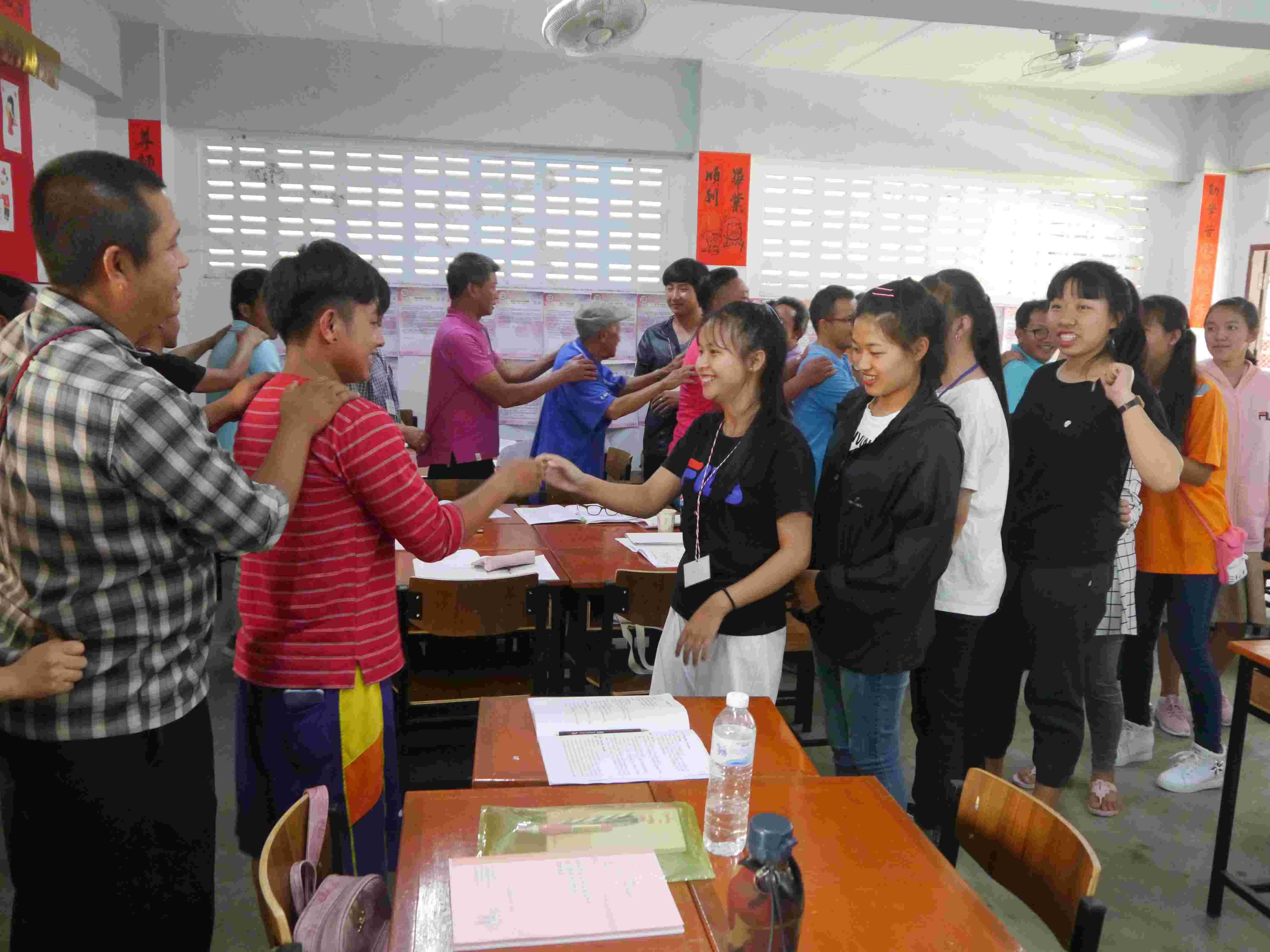 學員於成長團體體驗活動中自我探索