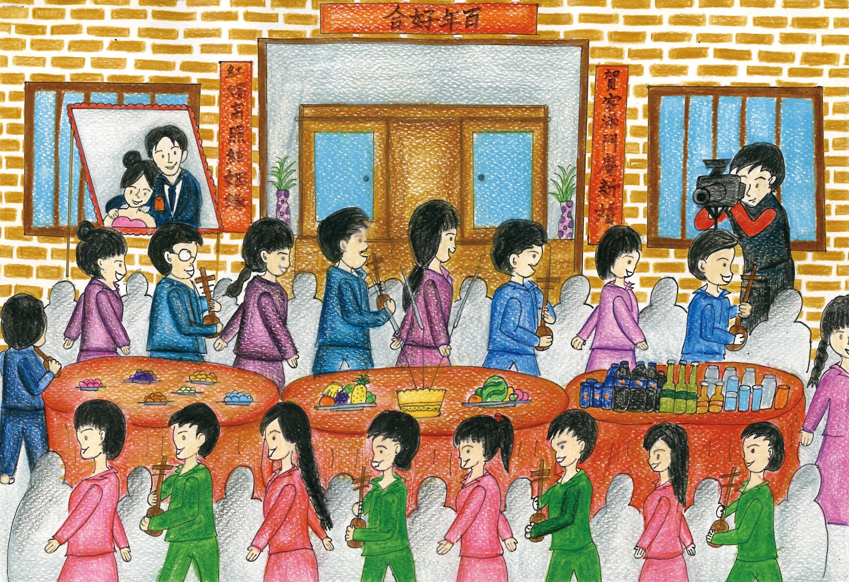 雲南傳統習俗「打歌」 一新中學王玉娟