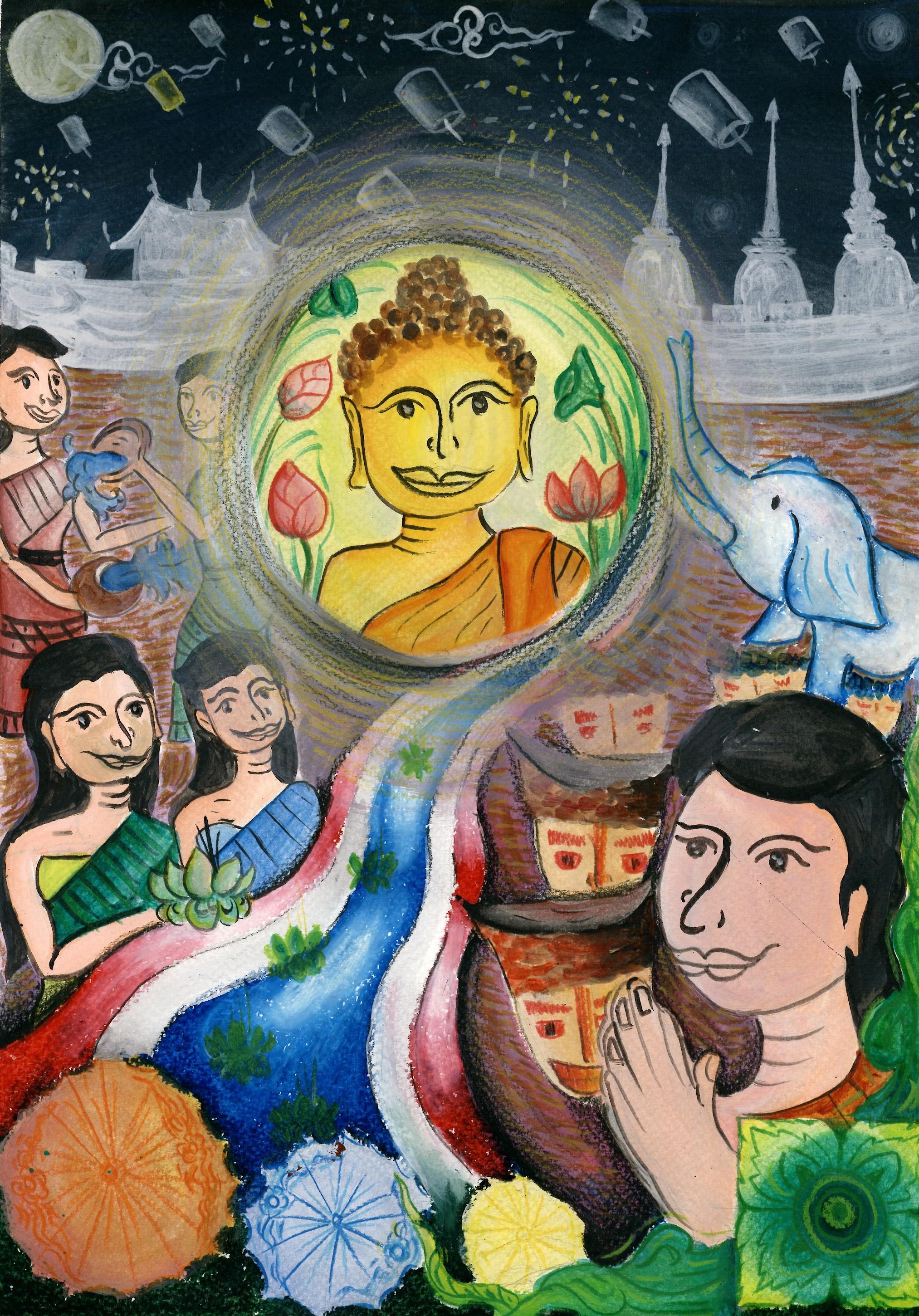 入選 泰國的文化 崇聖學校張姿吟